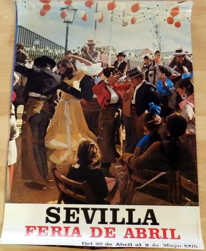 CARTEL FERIA DE ABRIL. SEVILLA 1976. MIDE 48X68 CMS. FOTOGRÁFICO. (Coleccionismo - Carteles Gran Formato - Carteles Ferias, Fiestas y Festejos)