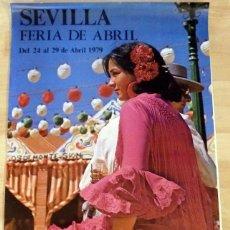 Carteles Feria: CARTEL FERIA DE SEVILLA 1979, 48X68 CMS. Lote 133702370