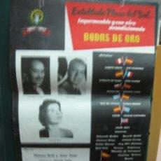 Carteles Feria: CARTEL FIESTA MAYOR GRACIA. BODAS DE ORO 1907 - 1957. ALBERTO CORTEZ, JOSE GUARDIOLA, MONNA BELL.... Lote 133888310