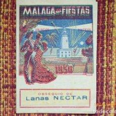 Carteles Feria: PROGRAMA FIESTAS DE MALAGA ,AÑO 1956. Lote 134822594