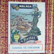 Carteles Feria: PROGRAMA FIESTA DE MALAGA, AÑO 1959. Lote 134825466