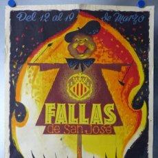 Carteles Feria: VALENCIA CARTEL DE FALLAS DE SAN JOSE - AÑO 1964 - LITOGRAFIA - ILUSTRADOR: RAGA. Lote 134991030