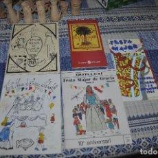 Carteles Feria: LOTE DE PROGRAMAS DE FIESTAS DE FIESTA MAYOR SABADELL Y BARRIO DE GRACIA (SABADELL). Lote 135502714