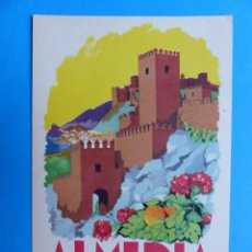 Carteles Feria: ALMERIA - CIUDAD DE INVIERNO EN LA COSTA DEL SOL - FERIA Y FIESTAS AGOSTO Y SEPTIEMBRE DE 1963. Lote 135926686