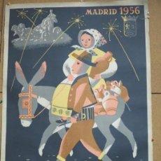 Carteles Feria: CARTEL FIESTAS DE SAN ISIDRO MADRID 1956, 100 X 70 CMS ILUSTRADOR TEODORO DELGADO. Lote 136727430