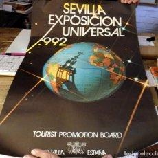 Carteles Feria: RARISIMO CARTEL PUBLICITARIO DE LA EXPO 92 DE SEVILLA, 44X64 CMS. Lote 137707838