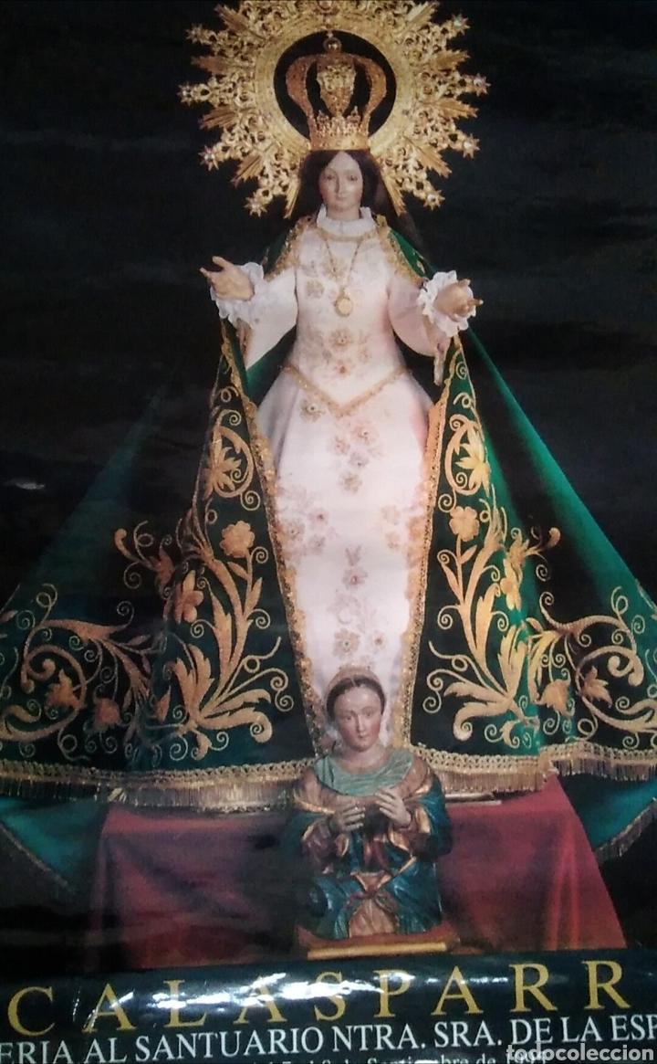Carteles Feria: Bonito póster lámina calasparra Murcia romería santuario nuestra señora de la esperanza 1995 - Foto 3 - 137723518