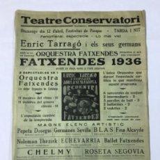 Carteles Feria: CARTEL TEATRO CONSERVATORIO DE MANRESA AÑO 1936. Lote 137932662