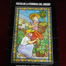 Carteles Feria: CARTEL XXXVI FIESTA DE LA VENDIMIA DEL SHERRY. JEREZ DEDICADA A LA CITY DE LONDRES. SETIEMBRE 1983. Lote 139188876