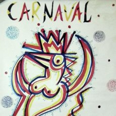 Carteles Feria: CARNAVAL DE CADIZ - CARTEL ORIGINAL AÑO 1992 - RAFAEL ALBERTI. Lote 139344278