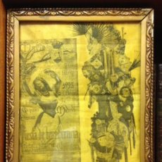 Carteles Feria: CARTEL SEDA. MARTES DE CARNAVAL 1895 MADRID FIESTA DE BENEFICENCIA BATALLA Y RETRETA. Lote 139435142