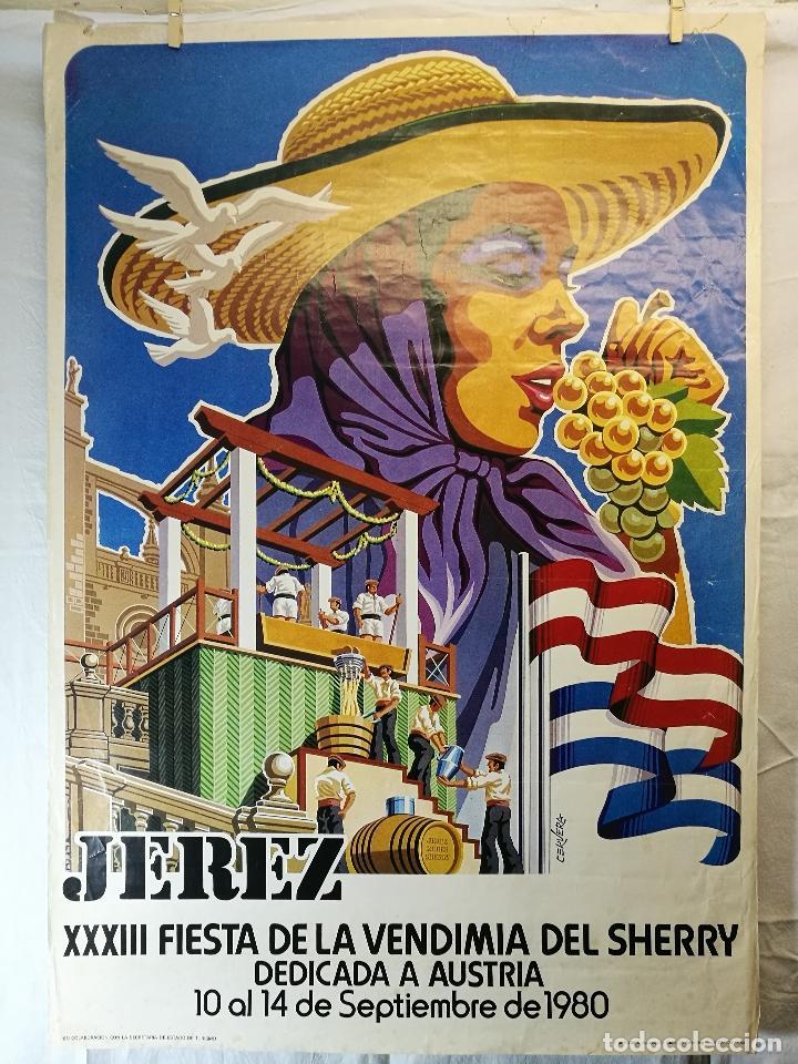Carteles Feria: JEREZ - XXXIII-- FIESTA DE LA VENDIMIA SHERRY AUSTRIA - 1980 - Foto 13 - 139465022