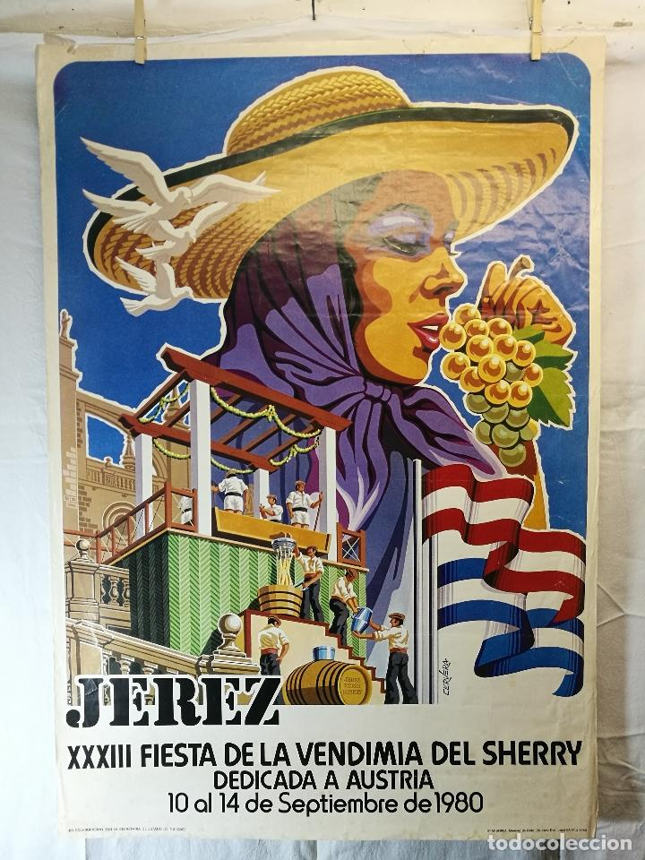 Carteles Feria: JEREZ - XXXIII-- FIESTA DE LA VENDIMIA SHERRY AUSTRIA - 1980 - Foto 14 - 139465022