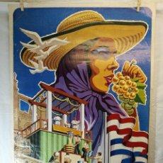 Carteles Feria: JEREZ - XXXIII-- FIESTA DE LA VENDIMIA SHERRY AUSTRIA - 1980. Lote 139465302