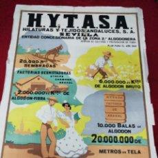 Carteles Feria: ANTIGUO CARTEL HILATURAS Y TEJIDOS ANDALUCES. AÑO 1943.. Lote 139534154