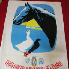 Carteles Feria: ANTIGUO CARTEL FERIA-CONCURSO PROVINCIAL DE GANADOS. TORTOSA 1962. Lote 139534574