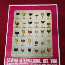 Carteles Feria: ANTIGUO CARTEL SEMANA INTERNACIONAL DEL VINO. JEREZ DE LA FRONTERA 1975. Lote 172265283