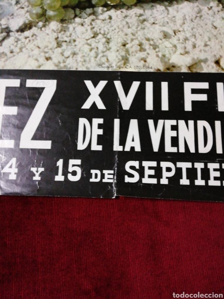Carteles Feria: Antiguo cartel XIII Fiesta de la Vendimia y Feria. Jerez 1964 - Foto 5 - 139948200
