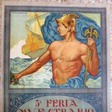 Carteles Feria: CARTEL FERIA MUESTRARIO INTERNACIONAL VALENCIA, 1922 , MELLADO , LITOGRAFIA , ORIGINAL , FMV. Lote 140145854
