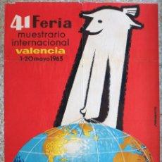 Carteles Feria: CARTEL FERIA MUESTRARIO INTERNACIONAL VALENCIA, 1963 , NORBERTO , ORIGINAL ,FMV. Lote 140146650