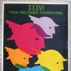 Carteles Feria: CARTEL FERIA MUESTRARIO INTERNACIONAL VALENCIA, 1958 , V. CABRELLES , ORIGINAL ,FMV. Lote 140148018
