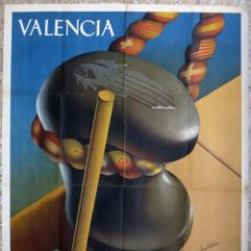 Carteles Feria: CARTEL FERIA MUESTRARIO INTERNACIONAL VALENCIA, 1946 , DURBAN , ORIGINAL ,FMV. Lote 140163894