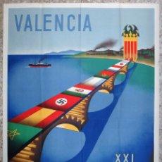 Carteles Feria: CARTEL FERIA MUESTRARIO INTERNACIONAL VALENCIA, 1943 , ANTOLI CANDELA , ORIGINAL ,FMV. Lote 140164110
