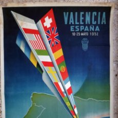 Carteles Feria: CARTEL FERIA MUESTRARIO INTERNACIONAL VALENCIA, 1952 , CALANDIN , ORIGINAL ,FMV. Lote 140164942