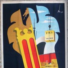 Carteles Feria: CARTEL FERIA MUESTRARIO INTERNACIONAL VALENCIA, 1952 , TRONCOSO , ORIGINAL ,FMV. Lote 140165202