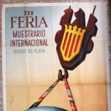 Carteles Feria: CARTEL FERIA MUESTRARIO INTERNACIONAL VALENCIA, 1947 , CALANDIN , ORIGINAL ,FMV. Lote 140165818