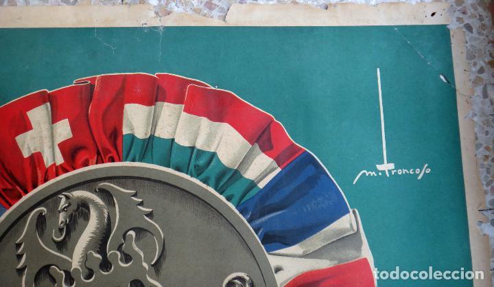Carteles Feria: CARTEL FERIA MUESTRARIO INTERNACIONAL VALENCIA, 1949 , TRONCOSO , ORIGINAL ,FMV - Foto 2 - 140166186