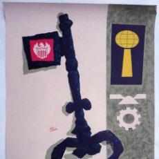 Carteles Feria: CARTEL FERIA MUESTRARIO INTERNACIONAL VALENCIA , 1962 , ALEX GINER , MEDIANO , ORIGINAL ,FMV. Lote 140316934