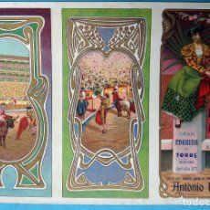 Carteles Feria: CARTEL FERIAS Y FIESTAS PROGRAMA, ARNEDO 1909 , LA RIOJA , TOROS , ANTONIO PAZOS , ORIGINAL, CA. Lote 140494126