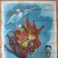 Carteles Feria: CARTEL FERIAS, GRAN FERIA VALENCIA JULIO 1949, C. TARAZONA, CF1. Lote 140889618