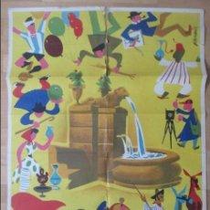 Carteles Feria: CARTEL FERIAS, GRAN FERIA JATIVA, VALENCIA, 1957, VERNIA, CF2. Lote 140890070