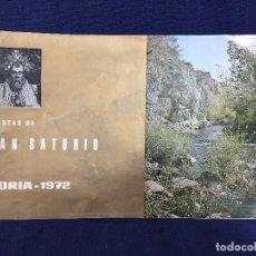 Carteles Feria: SORIA SAN SATURIO PROGRAMA DE FIESTAS 1972 10 PAGINAS CON FOTOGRAFIAS DE LA CIUDAD 28,5 X7 CM. Lote 141186818