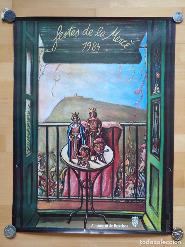CARTEL FESTES DE LA MERCE 1984 AJUNTAMENT DE BARCELONA MIQUEL VILA FOTOCOMPOSICIO ZERKOWITZ (Coleccionismo - Carteles Gran Formato - Carteles Ferias, Fiestas y Festejos)