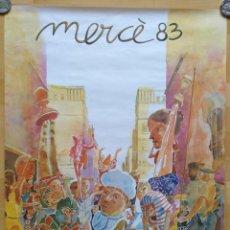 Carteles Feria: CARTEL MERCE 1983 AJUNTAMENT DE BARCELONA ILUSTRACION ARTIGAU 56 X 66 CM (APROX). Lote 143145774