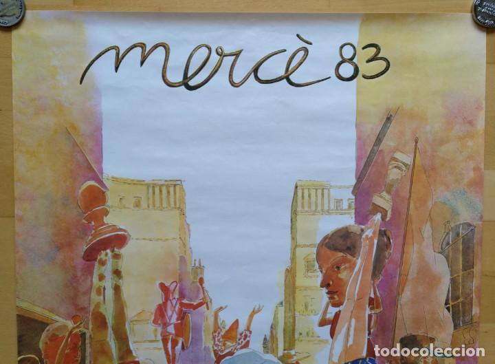 Carteles Feria: CARTEL MERCE 1983 AJUNTAMENT DE BARCELONA ILUSTRACION ARTIGAU 56 X 66 CM (APROX) - Foto 2 - 143145774
