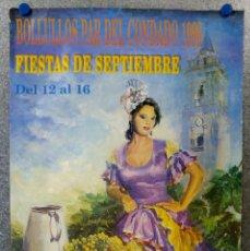 Carteles Feria: CARTEL FIESTAS - BOLLULLOS PAR DEL CONDADO, HUELVA - FIESTAS DE SEPTIEMBRE AÑO 1991. Lote 143289402