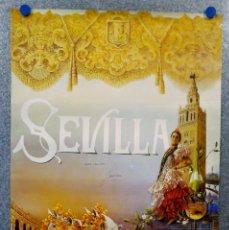 Carteles Feria: CARTEL FIESTAS PRIMAVERA 1992. SEVILLA, ILUSTRADOR JUAN ROLDAN. ESTÁ FIRMADO Y DEDICADO POR ÉL. Lote 143303538