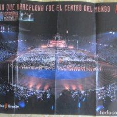 Carteles Feria: POSTER EL DÍA QUE BARCELONA FUE EL CENTRO DEL MUNDO. BARCELONA 92. PUBLICACIÓN DEL MUNDO DEPORTIVO. Lote 144009030