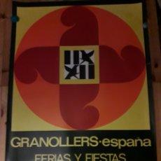 Carteles Feria: CARTEL GRANOLLERS FERIAS FIESTAS ASCENSION 1973. Lote 144800258