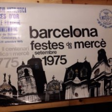 Carteles Feria: CARTEL BARCELONA FESTES MERCÈ 1975 CERCLE FILATELICO NUMISMATICO ABELLA ARNAU. Lote 144800786