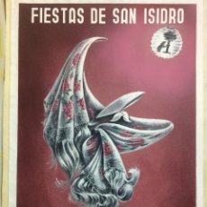 Carteles Feria: FIESTAS DE SAN ISIDRO (1967) - SANZ DEL POYO (PINTADO A MANO). Lote 144810162