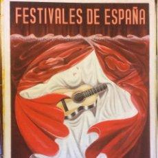 Carteles Feria: FESTIVALES DE ESPAÑA, SORIA - SANZ DEL POYO (ORIGINAL PINTADO A MANO). Lote 145249686