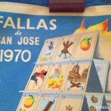 Carteles Feria: FALLAS DE SAN JOSE 1970 BURRIANA. Lote 146442770