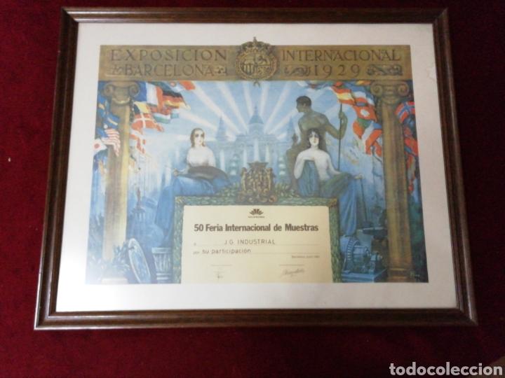 DIPLOMA CONMEMORATIVO 50 FERIA INTERNACIONAL DE MUESTRAS BARCELONA 1982 (Coleccionismo - Carteles Gran Formato - Carteles Ferias, Fiestas y Festejos)