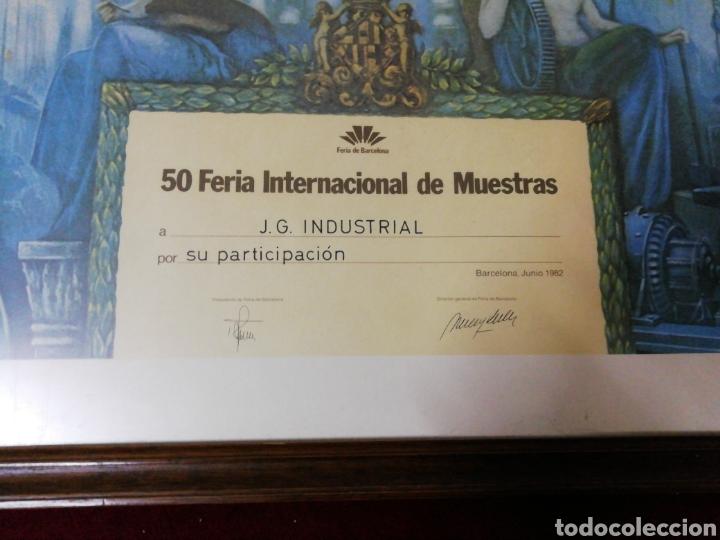 Carteles Feria: Diploma conmemorativo 50 Feria Internacional de Muestras Barcelona 1982 - Foto 3 - 146831398