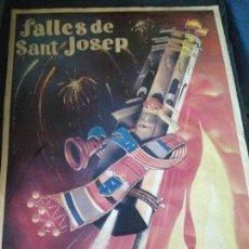 Carteles Feria: FALLES DE SAN JOSEP ,BURRIANA 1991. Lote 146907154